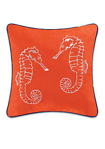 Aquatic Life Seahorse Decorative Pillow
