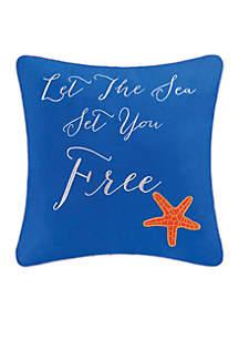 Aquatic Life Let The Sea Set You Free Decorative Pillow