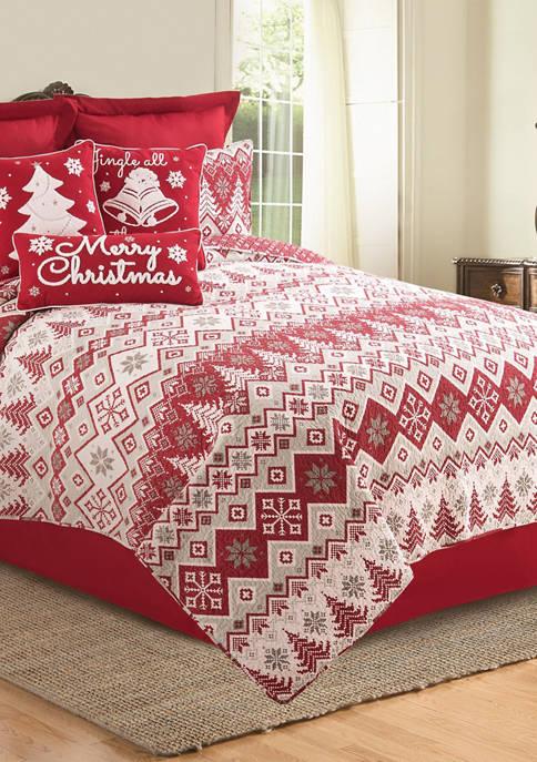 C&F Home Kristoff Christmas Mini Quilt Set