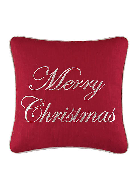 C&F Merry Christmas Throw Pillow