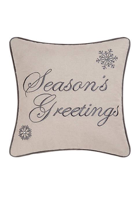 C&F Seasons Greetings Throw Pillow