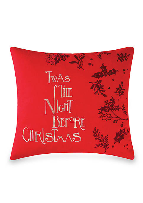 C&F Night Before Christmas Pillow