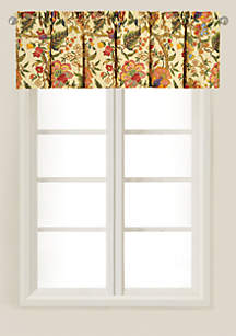 C&F Vivienne Multicolored Tailored Valance 15.5-in. x 72-in.