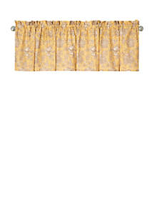 C&F Berkeley Yellow Valance Set of 2