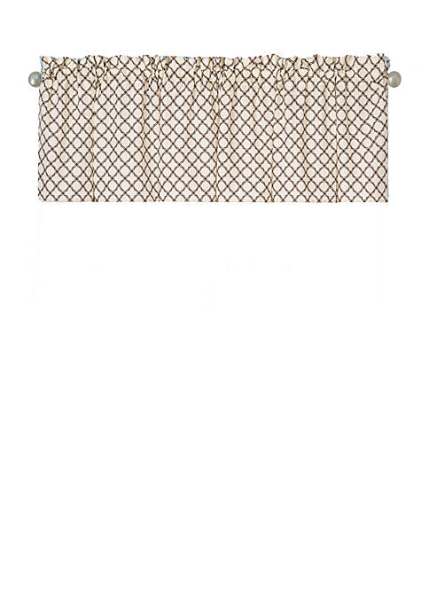 C&F Seraphina Brown Valance Set of 2