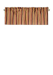 C&F Rustic Stripes Valance Set of 2