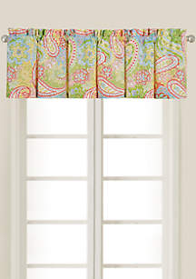 C&F Bright Paisley Tailored Valance 15.5-in. x 72-in. - Online Only