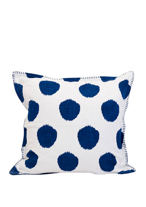Carol & Frank Dot Indigo Pillow