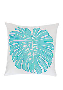 Palm Beaded Square Pillow