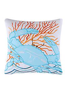 Tropic Escape Blue Crab Pillow