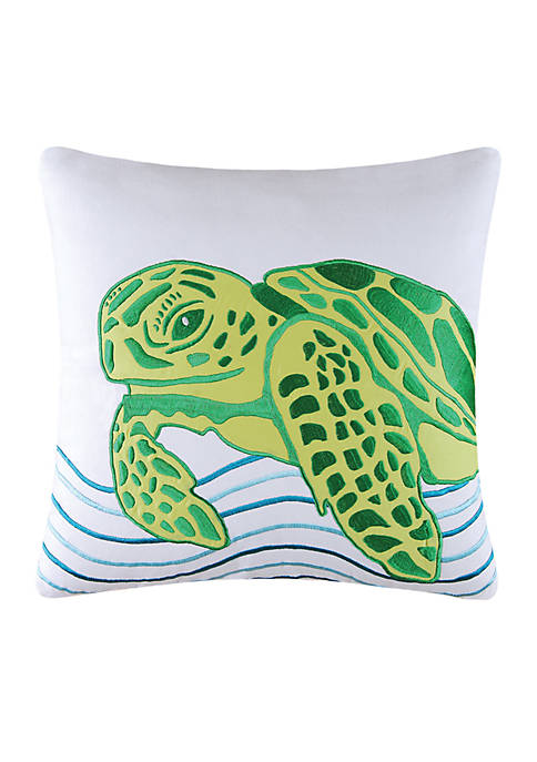 C&F Turtle Throw Pillow