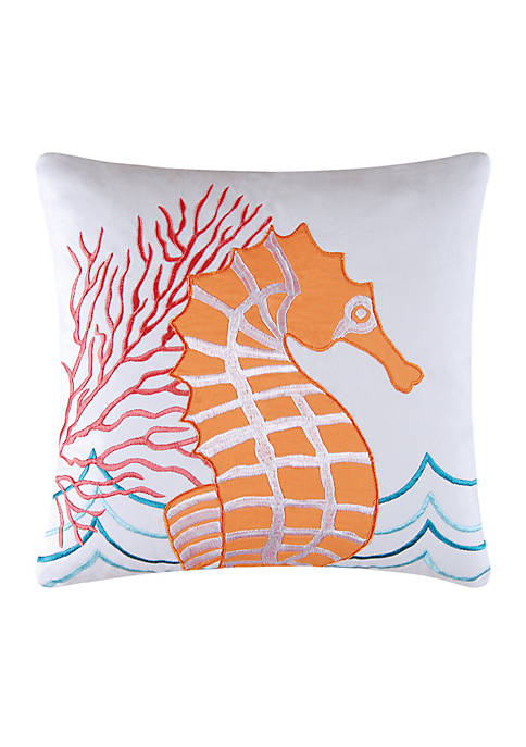C&F Seahorse Throw Pillow