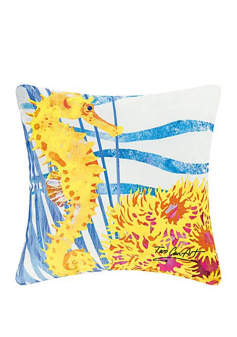 C&F Seahorse Indoor/Outdoor Pillow