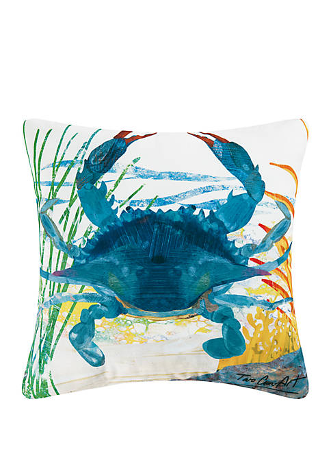 Blue Crab Indoor/Outdoor Pillow