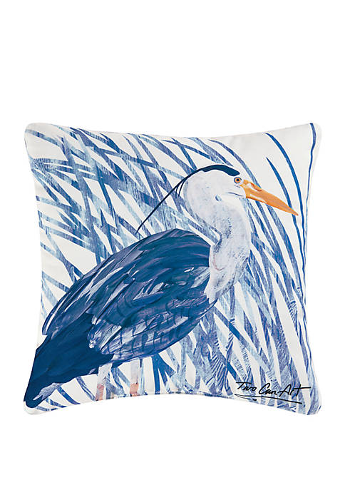 C&F Blue Heron Indoor/Outdoor Pillow