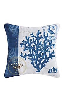 Indigo Coral Indoor/Outdoor Pillow