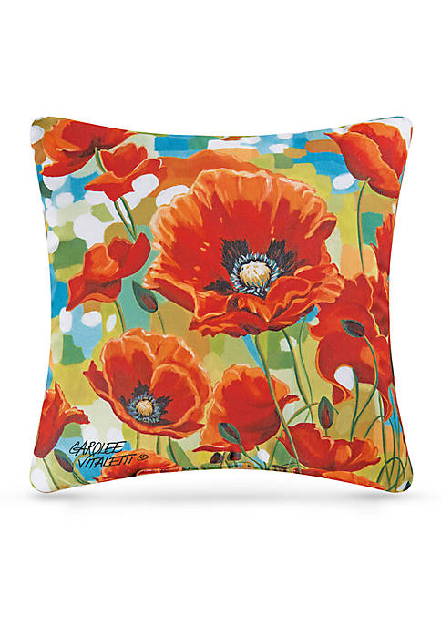C&F Poppy Field Decorative Pillow