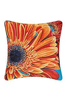 Gerbera Daisy Indoor/Outdoor Pillow