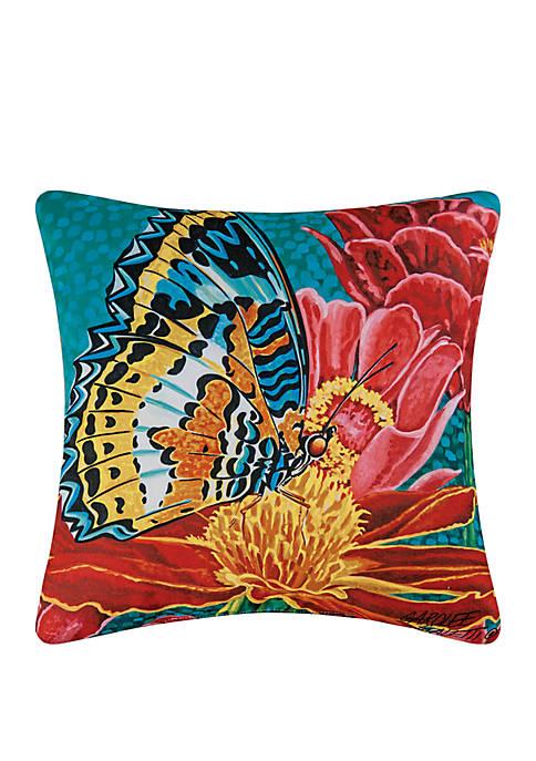 C&F Butterfly Indoor/Outdoor Pillow