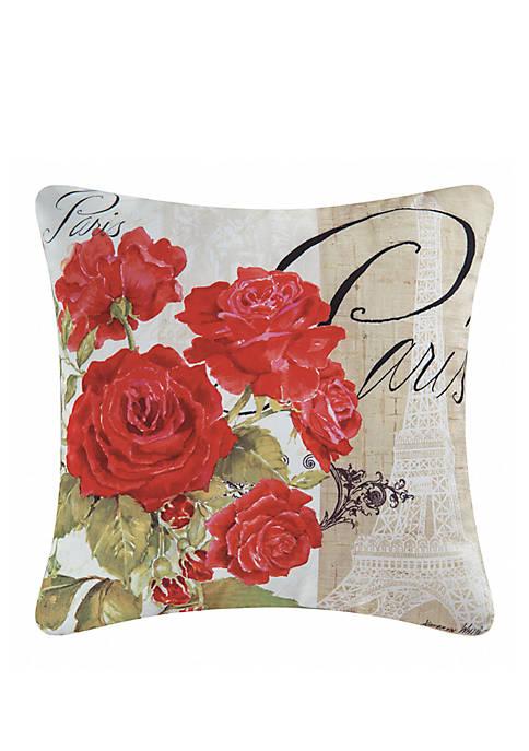 C&F Paris Rose Indoor/Outdoor Pillow