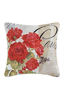Paris Rose Indoor/Outdoor Pillow