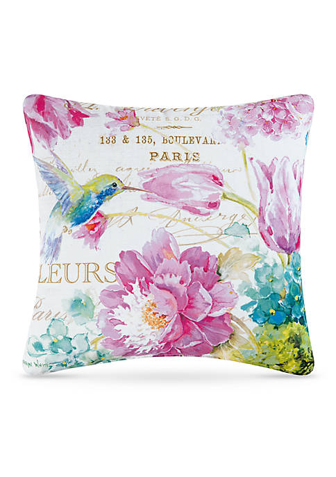 C&F Hummingbird Decorative Pillow