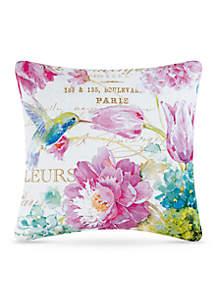 Hummingbird Decorative Pillow