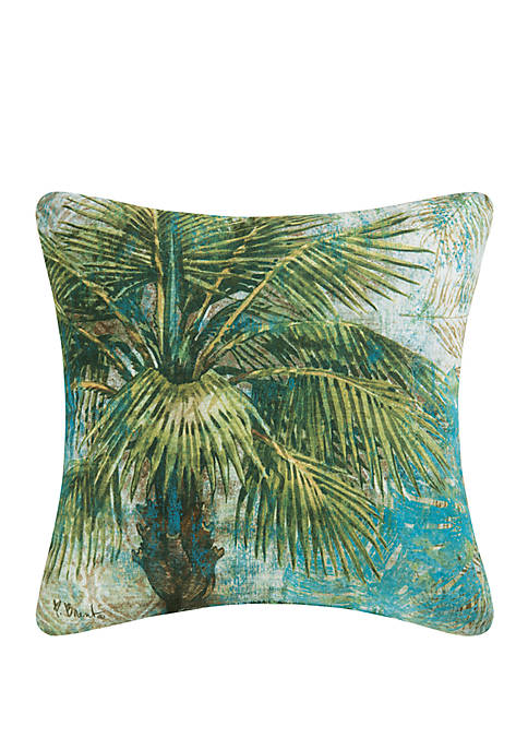 C&F Rustic Palm Pillow