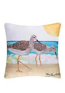 Sand Pipers Indoor/Outdoor Pillow
