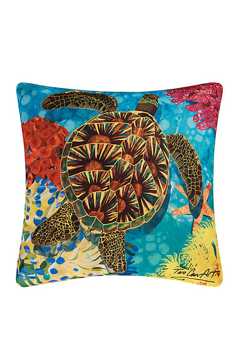 C&F Turtle Indoor/Outdoor Pillow
