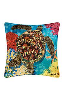 Turtle Indoor/Outdoor Pillow