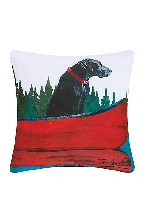 C&F Black Lab Indoor/Outdoor Pillow