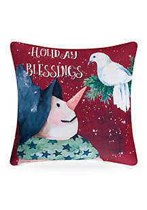 Holiday Blessing Pillow