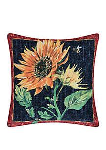 Sunflower & Bee Indoor/Outdoor Pillow
