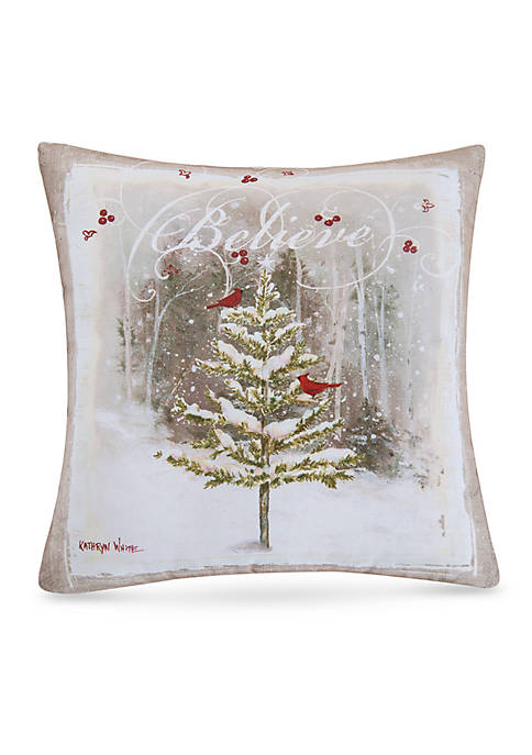 C&F Believe Tree Pillow