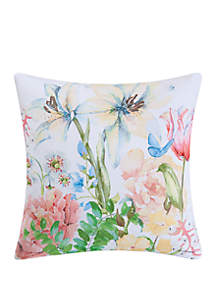 Butterfly Floral Indoor/Outdoor Pillow