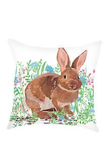 Bunny Indoor/Outdoor Pillow