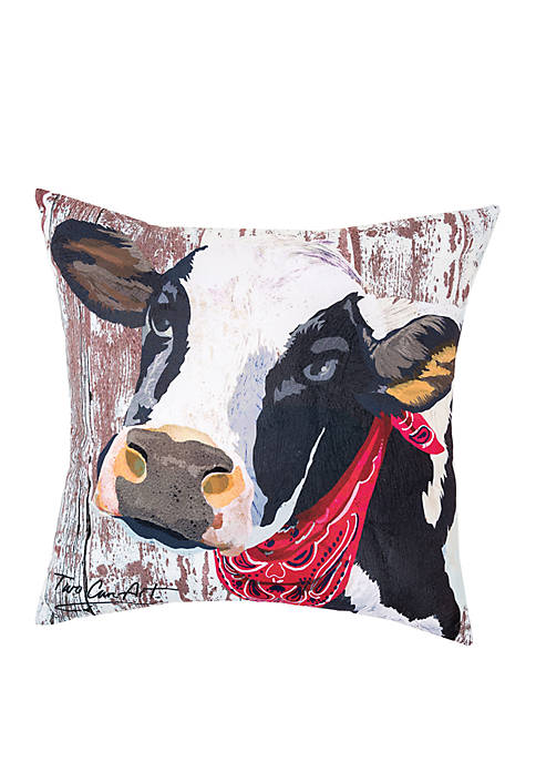 Cow Indoor/Outdoor Pillow
