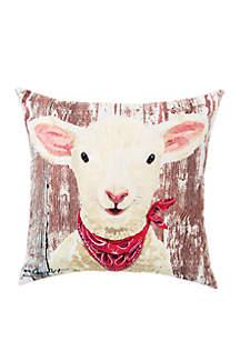Lamb Indoor/Outdoor Pillow