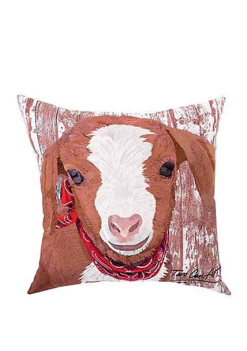 C&F Goat Indoor/Outdoor Pillow