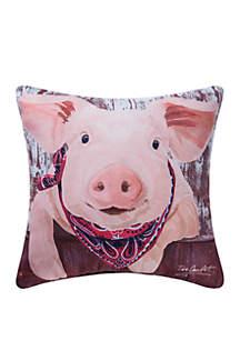 Pig Indoor/Outdoor Pillow