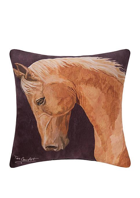 C&F Chestnut Horse Indoor Outdoor Pillow
