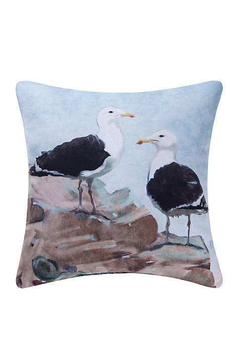 C&F Seagulls Indoor Outdoor Pillow