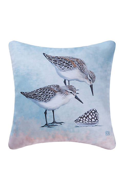 Sand Pipers Indoor Outdoor Pillow