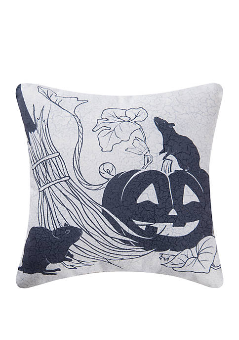 Vintage Halloween Pumpkin Indoor/Outdoor Pillow