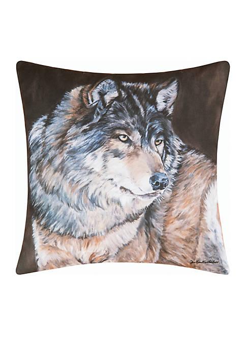 C&F Wolf Throw Pillow