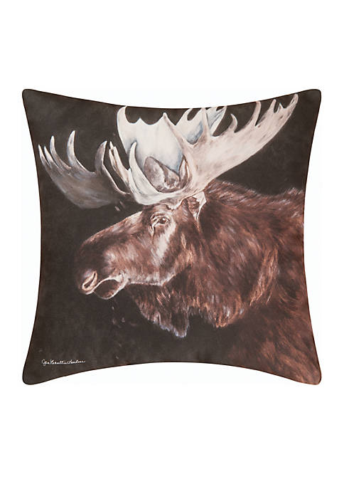 C&F Moose Throw Pillow