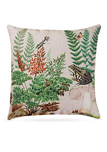 Fern & Frog Square Decorative Pillow