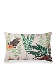 Fern & Frog Decorative Pillow
