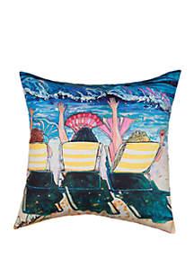 Mermaid Beach Party Indoor/Outdoor Pillow
